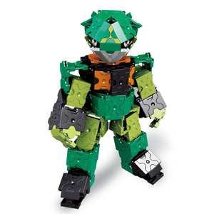 Standing robot featured in the LaQ robot jade set