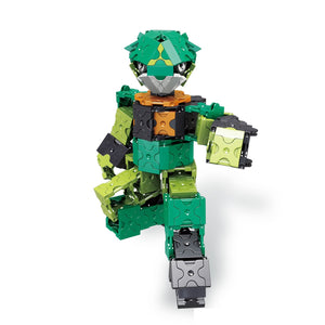 Walking robot featured in the LaQ robot jade set