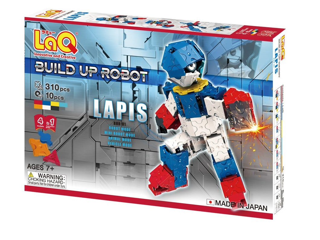 package front side featured in the LaQ robot lapis set