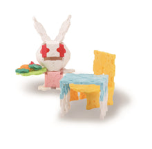 Load image into Gallery viewer, Bunny meal time featured in the LaQ sweet collection bunny set