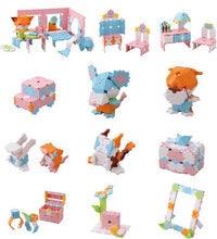 Load image into Gallery viewer, All models featured in the LaQ sweet collection cute house set