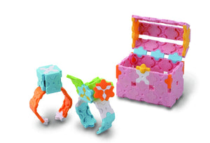 Jewelry box and bracelets featured in the LaQ sweet collection cute house set