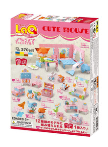 Package back side featured in the LaQ sweet collection cute house set