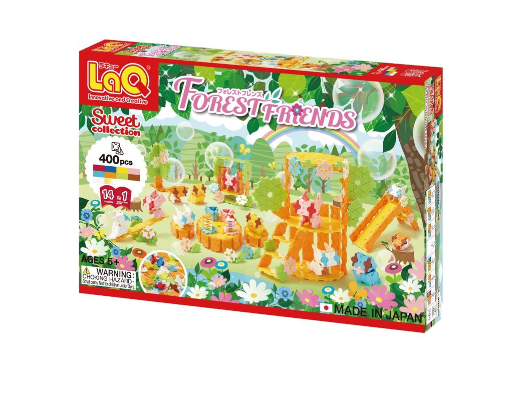 Package front side featured in the LaQ sweet collection forest friends set