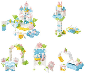 All models featured in the LaQ sweet collection princess garden set