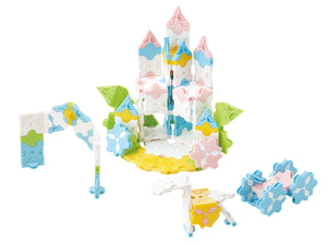 Flower castle featured in the LaQ sweet collection princess garden set