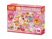 Load image into Gallery viewer, Package front side featured in the LaQ sweet collection sweets party set