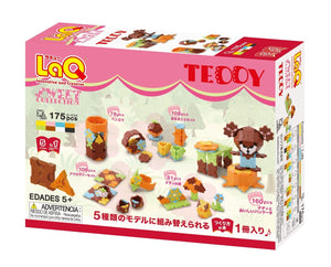 Package back side featured in the LaQ sweet collection teddy set