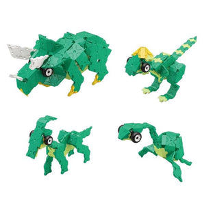 All models featured in the LaQ dinosaur world triceratops set