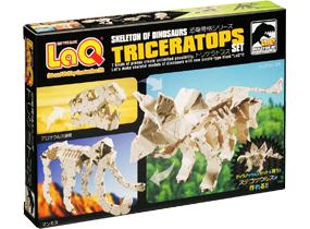 Package featured in the LaQ dinosaur skeleton triceratops set