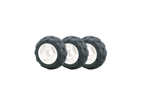 Wheels featured in the LaQ hamacron constructor mini wheels set