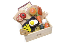 Load image into Gallery viewer, All products inside box featured in the woody puddy american food set