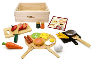 Full display with box featured in the woody puddy american food set