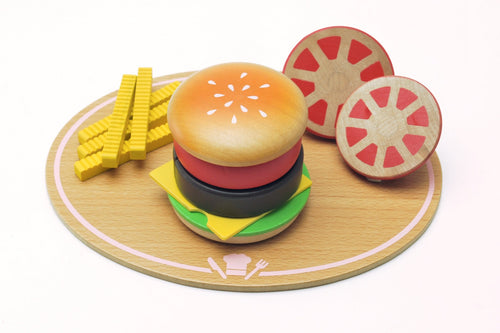 Hamburger meal set featured in the woody puddy set