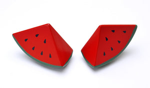 Watermelon whole cut in half featured in the woody puddy set