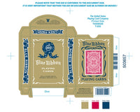 Blue Ribbon 323 Rosette Back Playing Cards-Red Edition