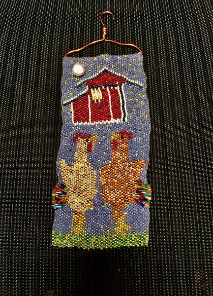 Sandey's Latest beaded wall hanging
