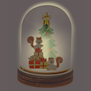 [TeamGreen Lifestyle]<br>Christmas Light Box - Christmas Squirrels