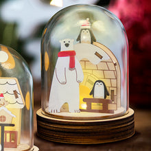 Load image into Gallery viewer, [TeamGreen Lifestyle]<br>Christmas Light Box - Polar Bear and Penguins