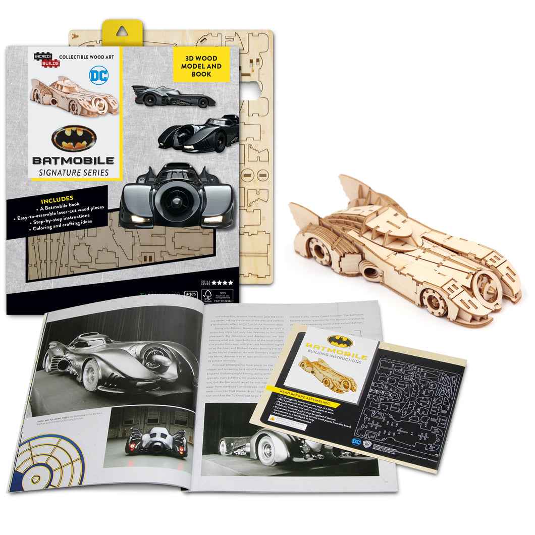 [ INCREDIBUILDS Wooden Puzzle]<br>Batmobile