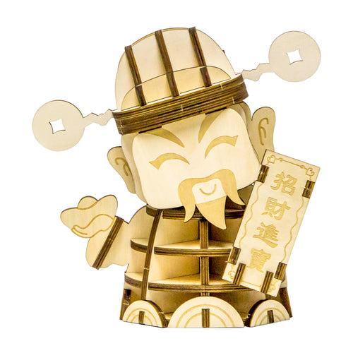 [JIGZLE Wooden Puzzle]<br>God of Wealth (Large)