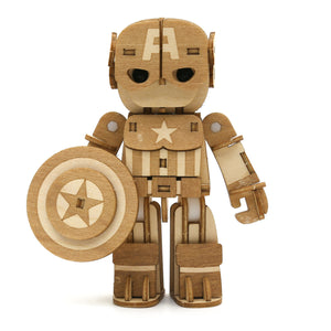 [INCREDIBOTS Wooden Puzzle]<br>Captain America