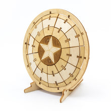 Load image into Gallery viewer, [INCREDIBUILDS Wooden Puzzle]<br>Captain America Shield