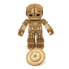 Load image into Gallery viewer, [INCREDIBOTS Wooden Puzzle]<br>Captain America