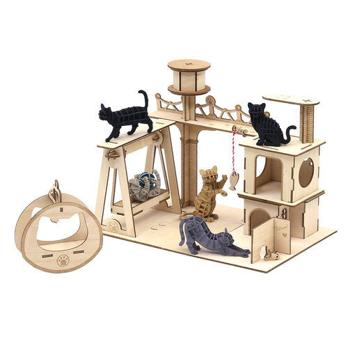 [JIGZLE Paper + Plywood Puzzle]<br>Cat playground Collection