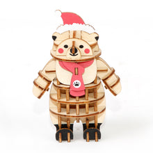 Load image into Gallery viewer, [JIGZLE Wooden Puzzle]<br>Christams Polar Bear