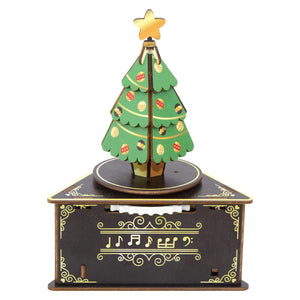 [JIGZLE Wooden Puzzle]<br>Christmas Tree Musical Box