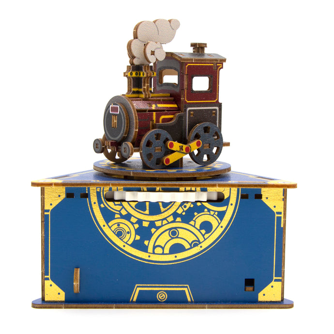 [JIGZLE Wooden Puzzle]<br>Classic Locomotive Musical Box