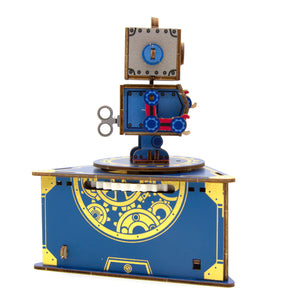 [JIGZLE Wooden Puzzle]<br>Classic Robot Musical Box