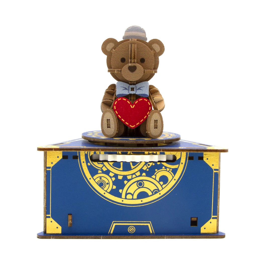 [JIGZLE Wooden Puzzle] Classic Teddy Bear Musical Box