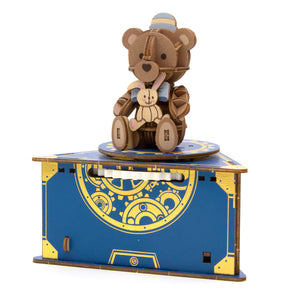 [JIGZLE Wooden Puzzle]<br>Classic Teddy Bear Musical Box