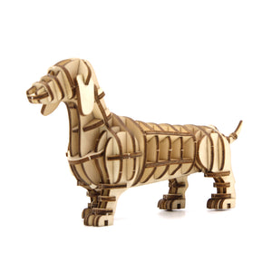 [JIGZLE Wooden Puzzle]<br>Dachshund