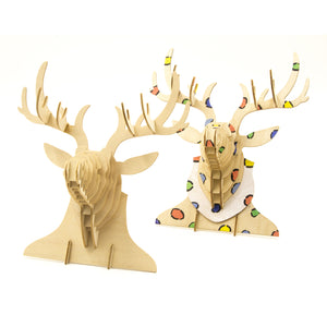 [JIGZLE Wooden Puzzle]<br>Deer Wall Deco