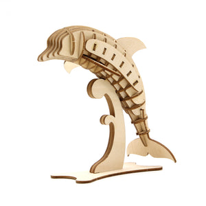[JIGZLE Wooden Puzzle]<br>Dolphin