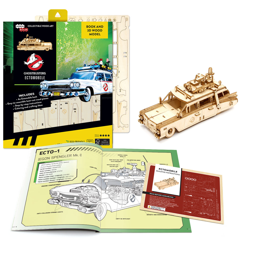 [INCREDIBUILDS Wooden Puzzle]<br>Ghostbusters Ectomobile