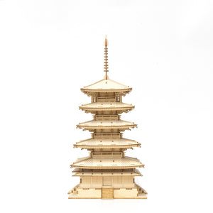 [JIGZLE Wooden Puzzle]<br>Five Story Pagoda