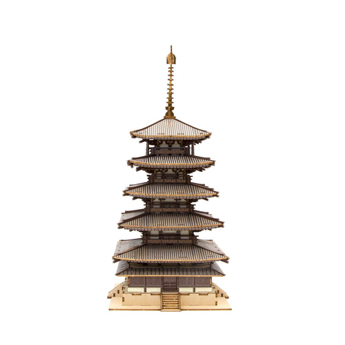 [JIGZLE Wooden Puzzle]<br>Five Story Pagoda (Color Ver.)