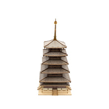 Load image into Gallery viewer, [JIGZLE Wooden Puzzle]<br>Five Story Pagoda (Color Ver.)