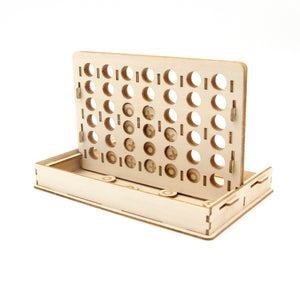 [JIGZLE Wooden Puzzle] <br>Four-in-a-row