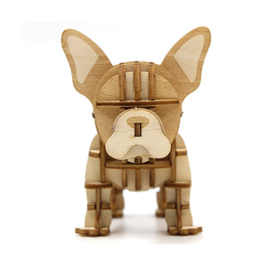 [JIGZLE Wooden Puzzle]<br>French Bulldog