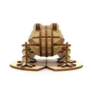 [JIGZLE Wooden Puzzle]<br>Frog