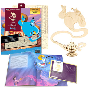 [ INCREDIBUILDS Wooden Puzzle]<br>Aladdin - Genie
