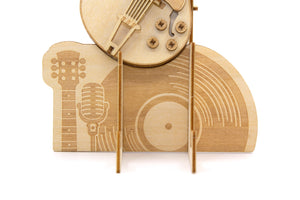 [JIGZLE Wooden Puzzle]<br>Guitar Multi Stand