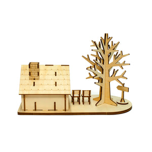 [JIGZLE Wooden Puzzle]<br>House and Tree Accessory Case