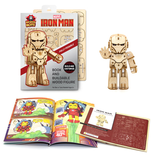 [INCREDIBOTS Wooden Puzzle]<br>Ironman