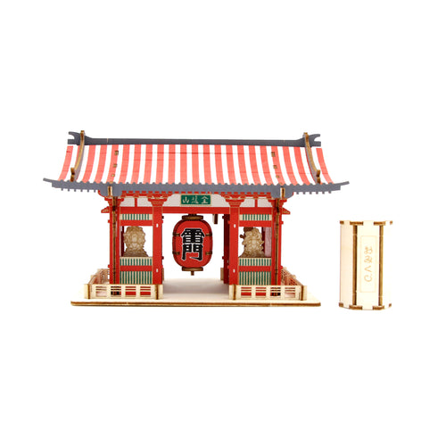 [JIGZLE Wooden Puzzle]<br>Kaminarimon (Color Ver.)
